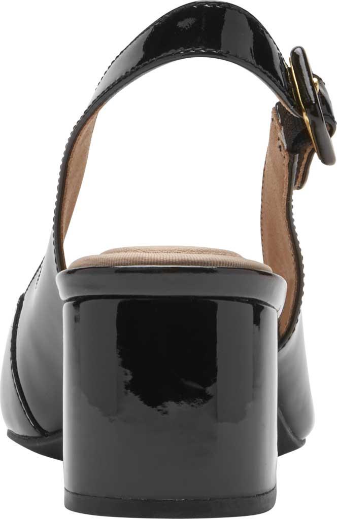 Women's Rockport Total Motion Noelle Slingback, Black Patent Leather, large, image 3