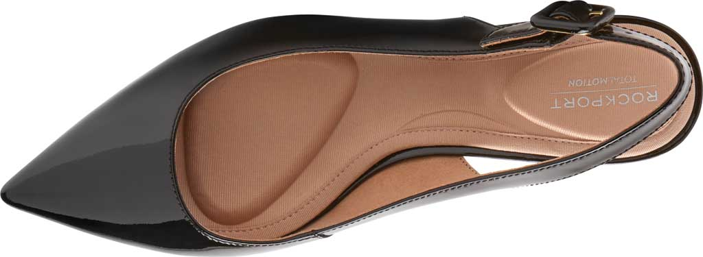 Women's Rockport Total Motion Noelle Slingback, Black Patent Leather, large, image 4