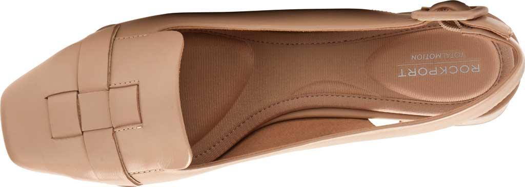 Women's Rockport Total Motion Esma Woven Slingback, Neutral Beige Leather, large, image 4
