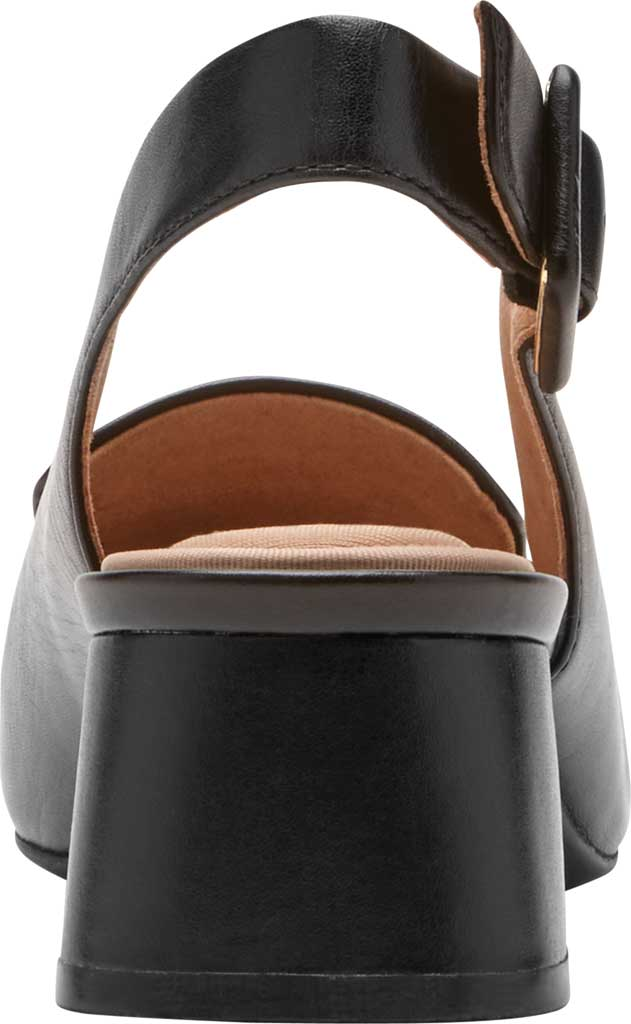 Women's Rockport Total Motion Esma Woven Slingback, Black Leather, large, image 3