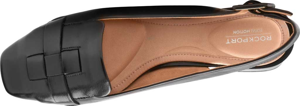 Women's Rockport Total Motion Esma Woven Slingback, Black Leather, large, image 4