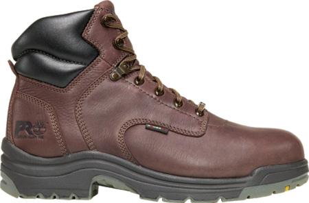 "Men's Timberland PRO TiTAN® 6"" Safety Toe WP, Dark Mocha Full Grain Leather, large, image 1"