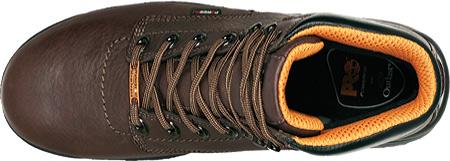 "Men's Timberland PRO TiTAN® 6"" Safety Toe WP, Dark Mocha Full Grain Leather, large, image 3"