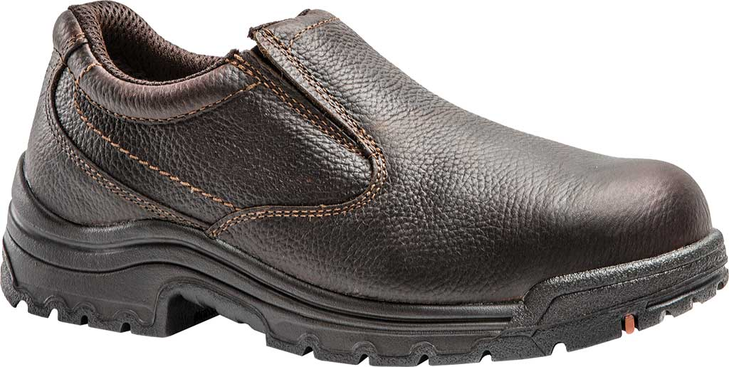 Men's Timberland PRO TiTAN Slip-On Safety Toe, Camel Brown Oiled Full Grain Leather, large, image 1
