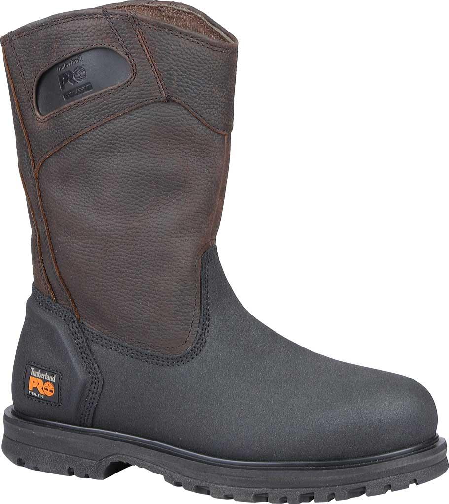 Men's Timberland PRO Powerwelt Wellington Steel Toe, Rancher Brown Oiled Full Grain Leather, large, image 1