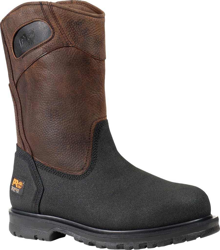 Men's Timberland PRO Powerwelt Wellington Steel Toe, Rancher Brown Oiled Leather, large, image 1