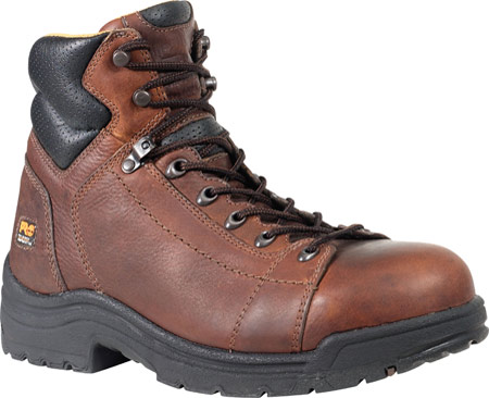 """Men's Timberland PRO TiTAN® Lace-To-Toe 6"""" Safety Toe, Haystack Brown Full Grain Leather, large, image 1"""