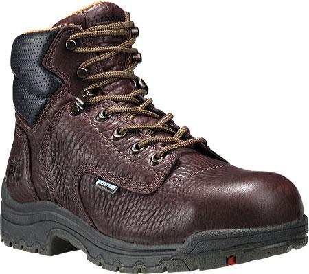 "Women's Timberland PRO TiTAN® Waterproof 6"" Safety Toe, Dark Mocha Full Grain Leather, large, image 1"