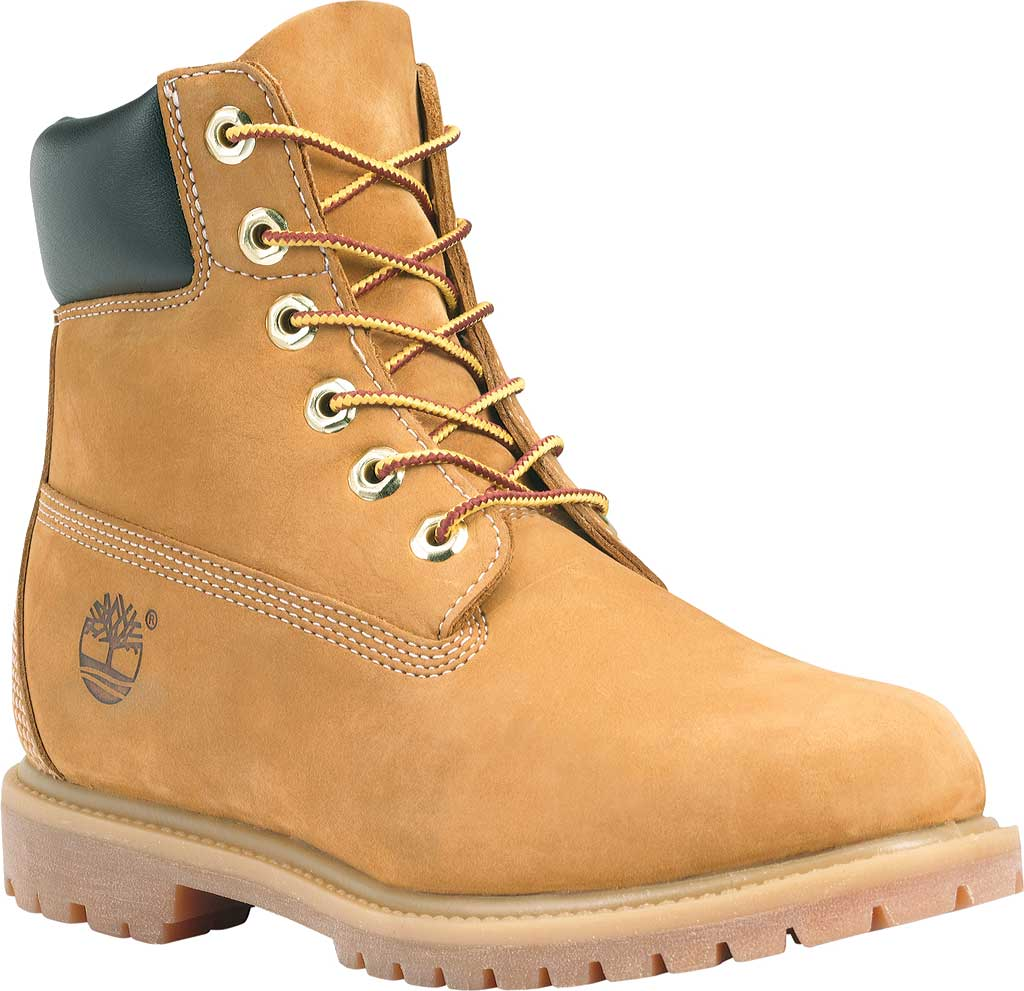 "Women's Timberland Earthkeepers 6"" Premium Boot, Wheat Nubuck, large, image 1"