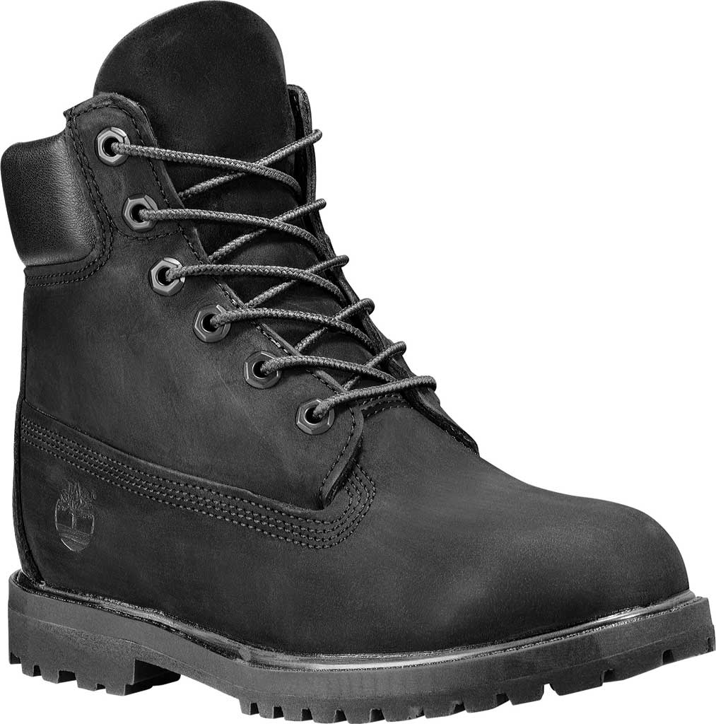 "Women's Timberland Earthkeepers 6"" Premium Boot, Black Smooth, large, image 1"