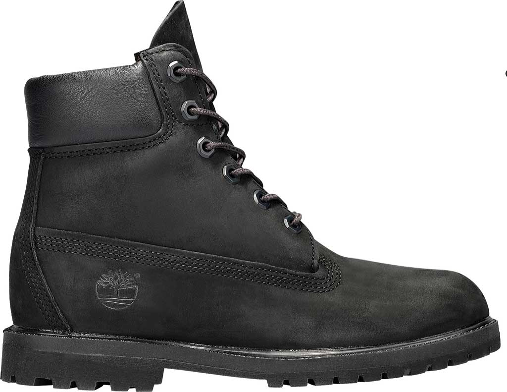 "Women's Timberland Earthkeepers 6"" Premium Boot, Black Smooth, large, image 2"