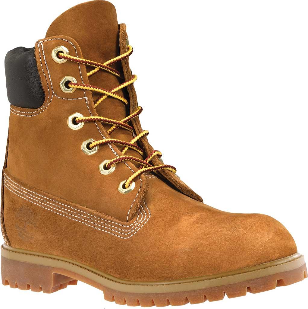 "Women's Timberland Earthkeepers 6"" Premium Boot, Rust Nubuck, large, image 1"
