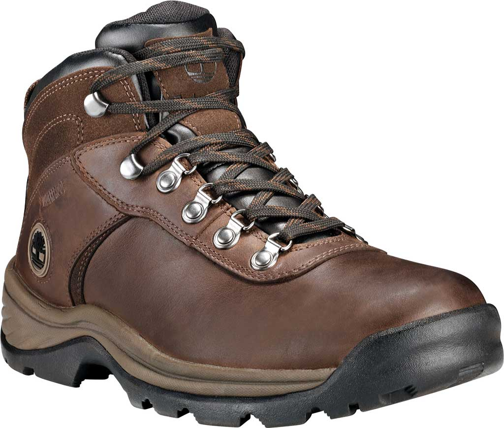 Men's Timberland Flume Mid Waterproof Boot, Dark Brown, large, image 1
