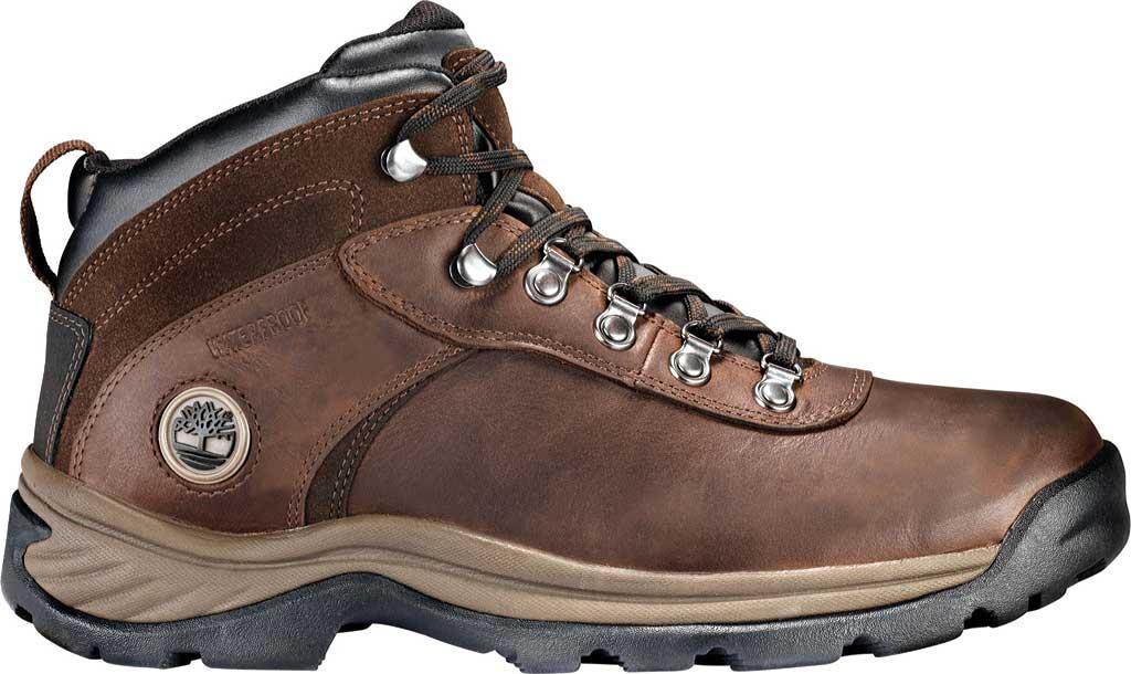 Men's Timberland Flume Mid Waterproof Boot, Dark Brown, large, image 2