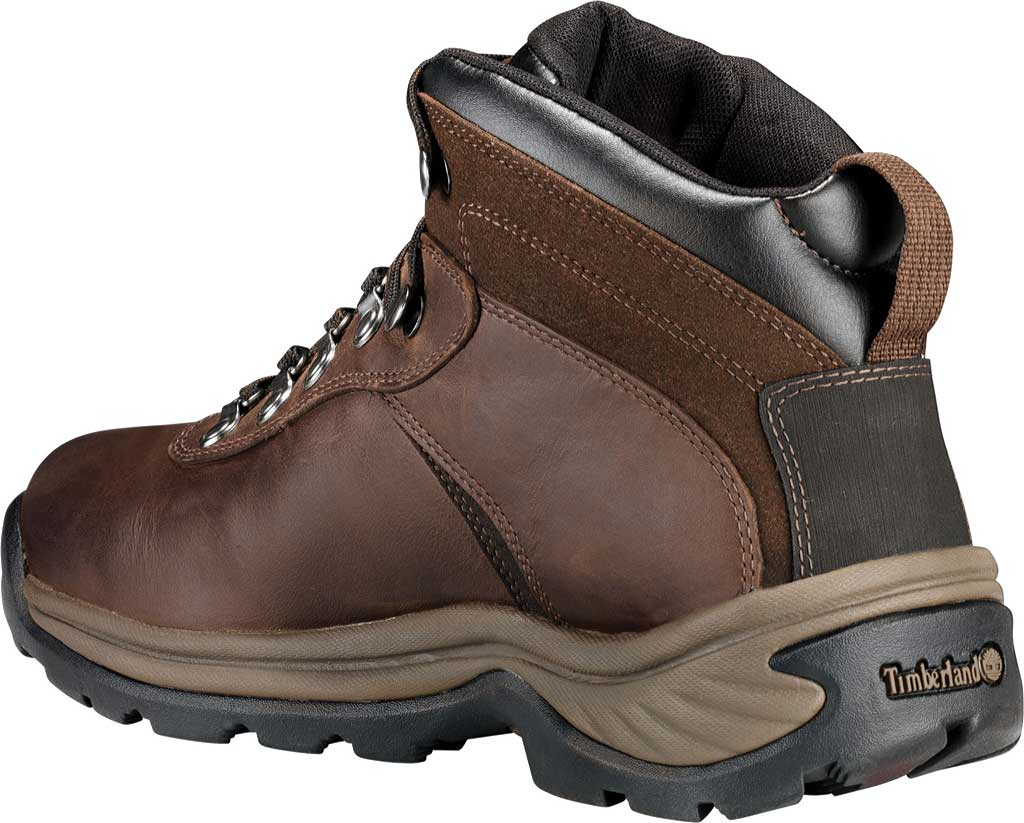 Men's Timberland Flume Mid Waterproof Boot, Dark Brown, large, image 3