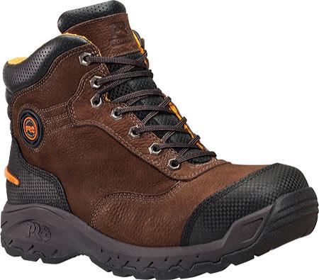 "Men's Timberland PRO TiTAN Endurance 6"" XL Safety Toe, Brown Nubuck/Everguard Full Grain Leather, large, image 1"