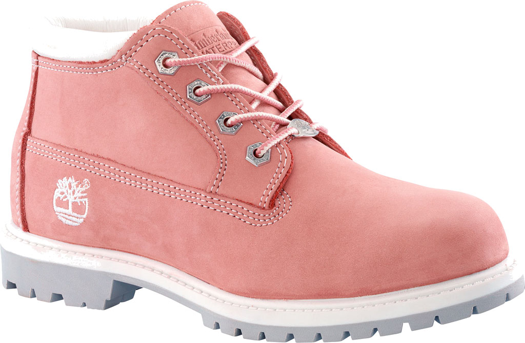 Women's Timberland Classic Nellie Lace-up Boot, Medium Pink Nubuck, large, image 1