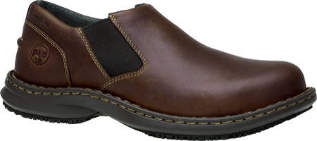 Men's Timberland PRO Gladstone ESD Steel Toe Slip-On, Brown Full Grain Leather, large, image 1