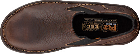 Men's Timberland PRO Gladstone ESD Steel Toe Slip-On, Brown Full Grain Leather, large, image 4