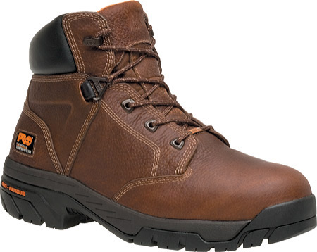 """Men's Timberland PRO Helix 6"""" Waterproof Safety Toe, Brown Full Grain Leather, large, image 1"""