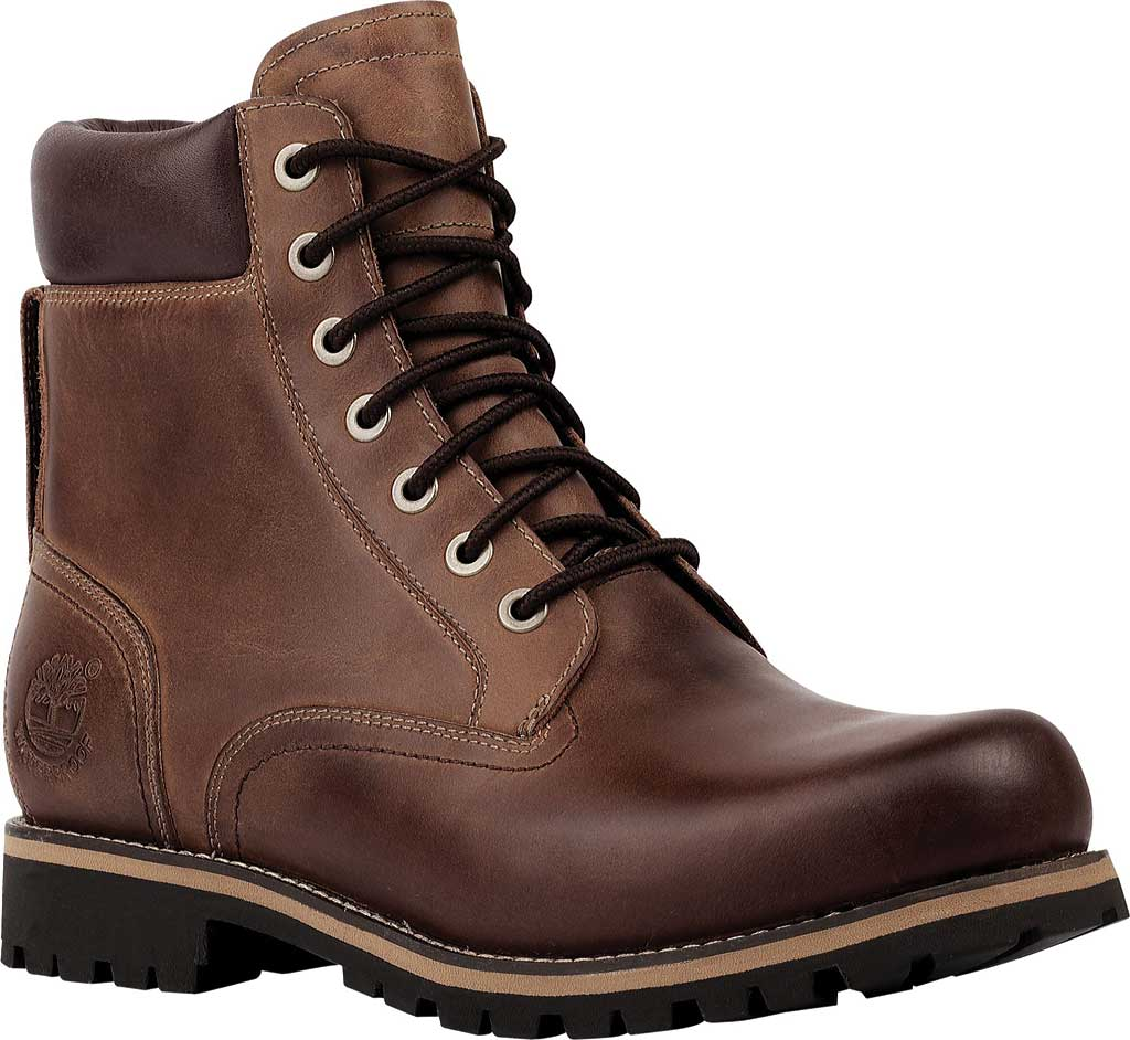 """Men's Timberland Earthkeepers Rugged 6"""" Waterproof Plain Toe Boot, Copper Full Grain Leather, large, image 1"""