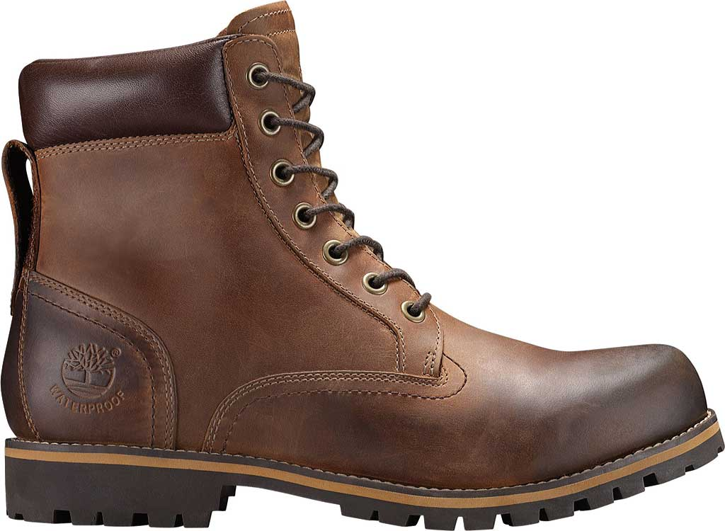 """Men's Timberland Earthkeepers Rugged 6"""" Waterproof Plain Toe Boot, Copper Full Grain Leather, large, image 2"""