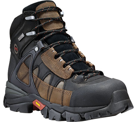 Men's Timberland PRO Hyperion Waterproof XL Alloy Safety Toe, Brown All Leather, large, image 1