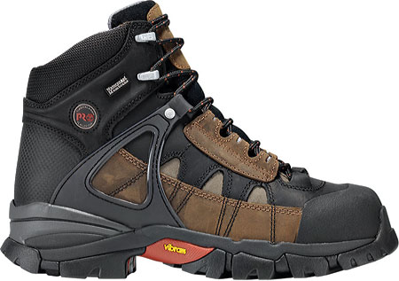Men's Timberland PRO Hyperion Waterproof XL Alloy Safety Toe, Brown All Leather, large, image 2