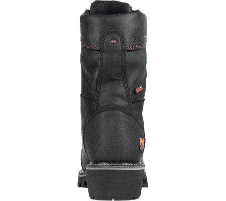 Men's Timberland PRO Rip Saw Waterproof Composite Toe CSA Logger Boot, Black Leather/Ever-guard Leather, large, image 3