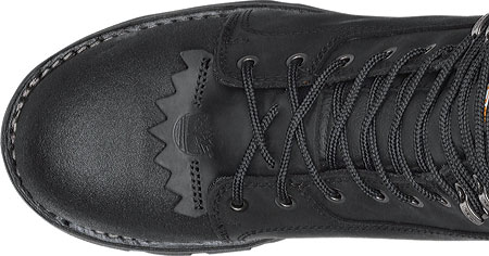 Men's Timberland PRO Rip Saw Waterproof Composite Toe CSA Logger Boot, Black Leather/Ever-guard Leather, large, image 4