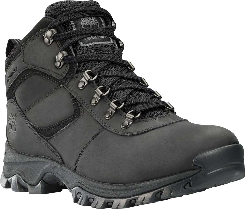 Men's Timberland Earthkeepers Mt. Maddsen Mid Waterproof Hiker Boot, Black Leather, large, image 1