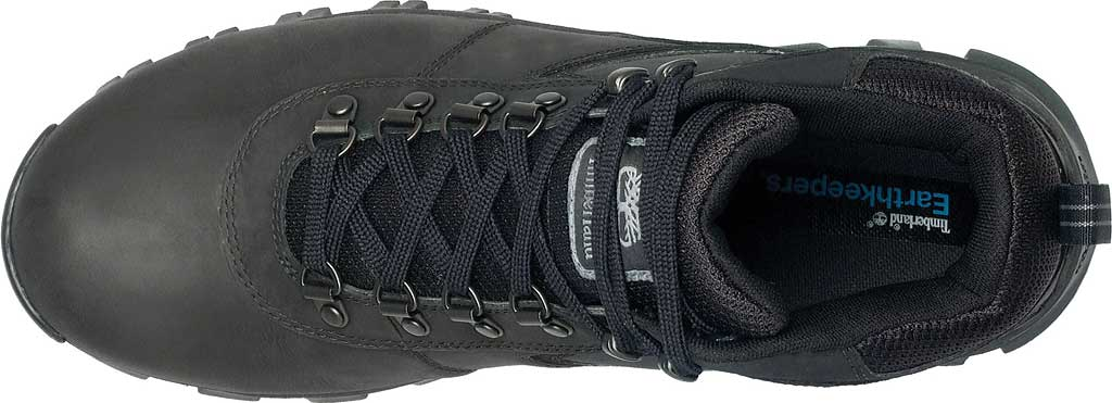 Men's Timberland Earthkeepers Mt. Maddsen Mid Waterproof Hiker Boot, Black Leather, large, image 4