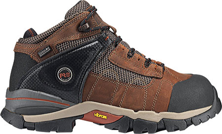 """Men's Timberland PRO Hyperion 4"""" XL Alloy Toe Waterproof Boot, Brown Distressed Leather/Fabric, large, image 2"""