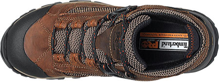 """Men's Timberland PRO Hyperion 4"""" XL Alloy Toe Waterproof Boot, Brown Distressed Leather/Fabric, large, image 4"""