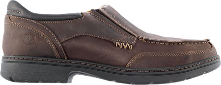 Men's Timberland PRO Branston Alloy Toe Moc Toe Slip-On ESD, Brown Distressed Leather, large, image 2