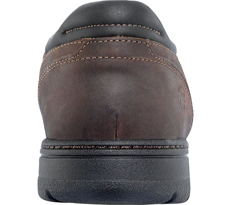Men's Timberland PRO Branston Alloy Toe Moc Toe Slip-On ESD, Brown Distressed Leather, large, image 3