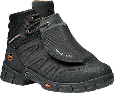 "Men's Timberland PRO Excave 6"" Steel Toe External Met Guard Boot, Black Split Leather, large, image 1"