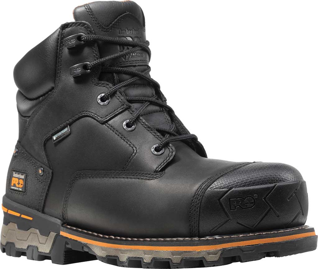 """Men's Timberland PRO Boondock 6"""" WP Insulated Composite Toe Boot, Black Full Grain Leather, large, image 1"""