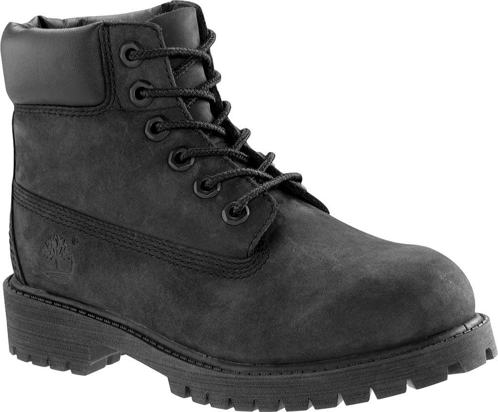 """Children's Timberland 6"""" Premium Waterproof Boot Junior, Black Nubuck, large, image 1"""