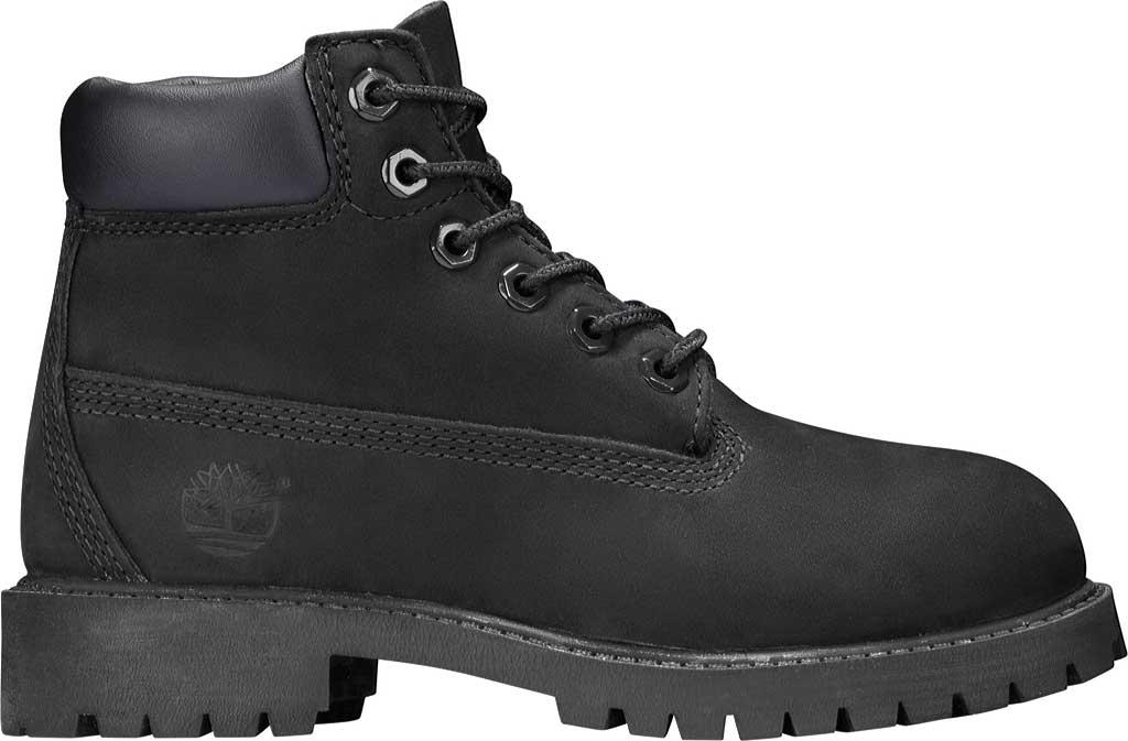"""Children's Timberland 6"""" Premium Waterproof Boot Junior, Black Nubuck, large, image 2"""