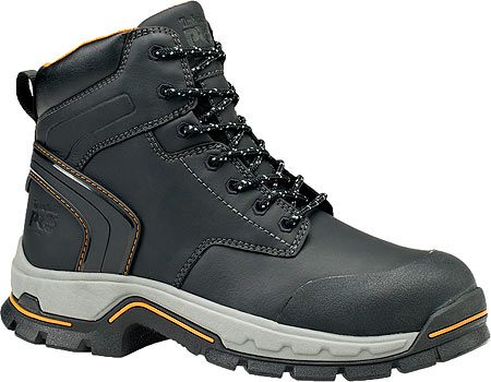 "Men's Timberland PRO Stockdale 6"" GripMax Alloy Safety Toe Boot, Black Full Grain Leather, large, image 1"