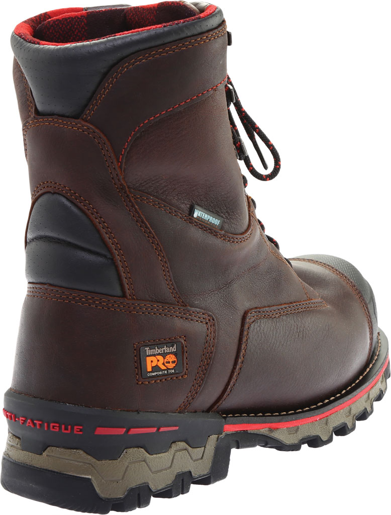 """Men's Timberland PRO Boondock 8"""" Composite Toe Waterproof 1000G Boot, Brown Tumbled Leather, large, image 4"""
