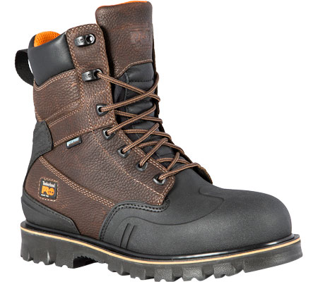 """Men's Timberland PRO Rigmaster XT 8"""" Steel Toe Waterproof Boot, Brown Tumbled Leather, large, image 1"""