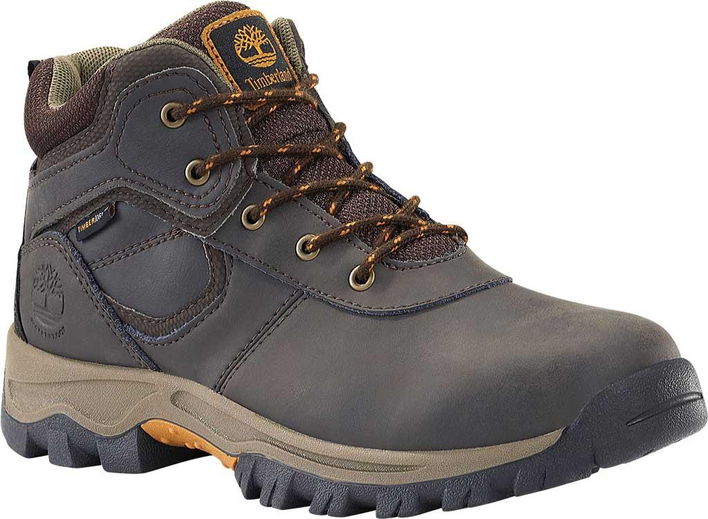 Boys' Timberland Mt. Maddsen Mid Waterproof Boot - Juniors, Dark Brown Full Grain Leather, large, image 1