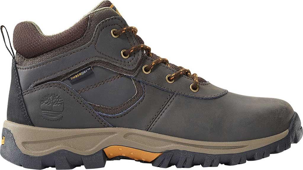 Boys' Timberland Mt. Maddsen Mid Waterproof Boot - Juniors, Dark Brown Full Grain Leather, large, image 2