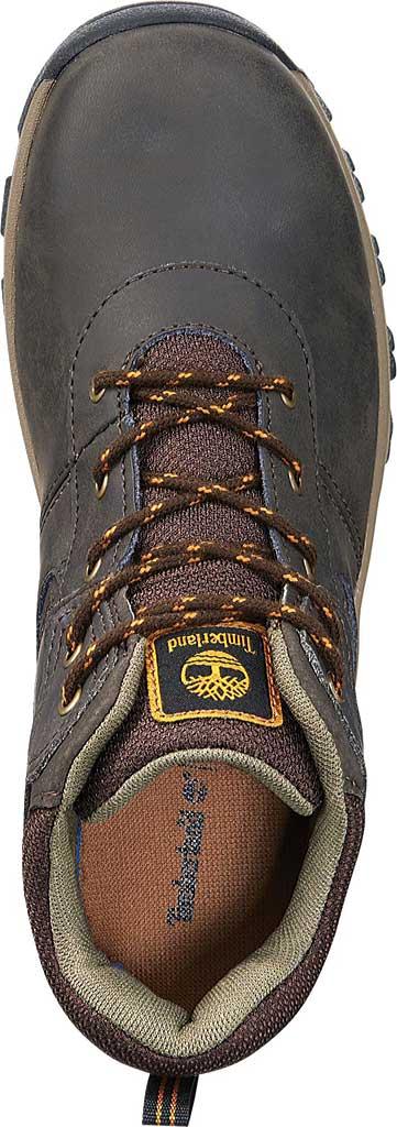 Boys' Timberland Mt. Maddsen Mid Waterproof Boot - Juniors, Dark Brown Full Grain Leather, large, image 4