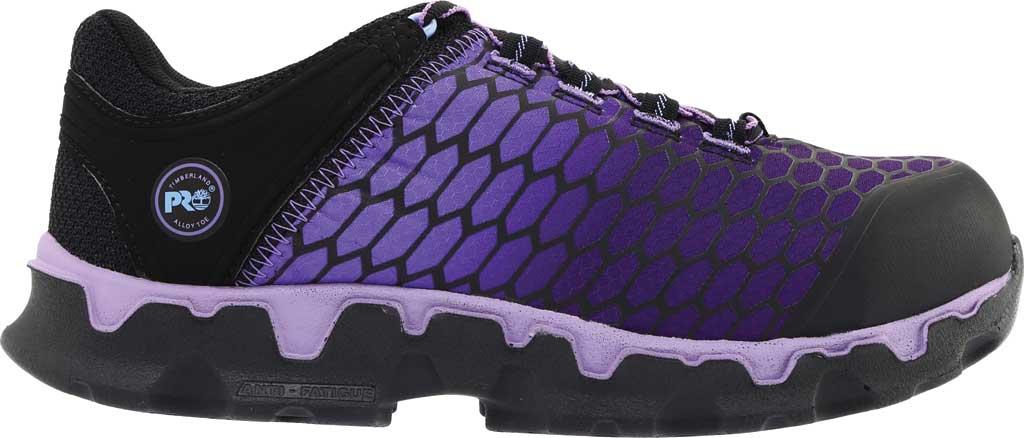 Women's Timberland PRO Powertrain Sport Alloy Toe SD Plus Work Shoe, Black Ripstop Nylon/Lavender, large, image 2