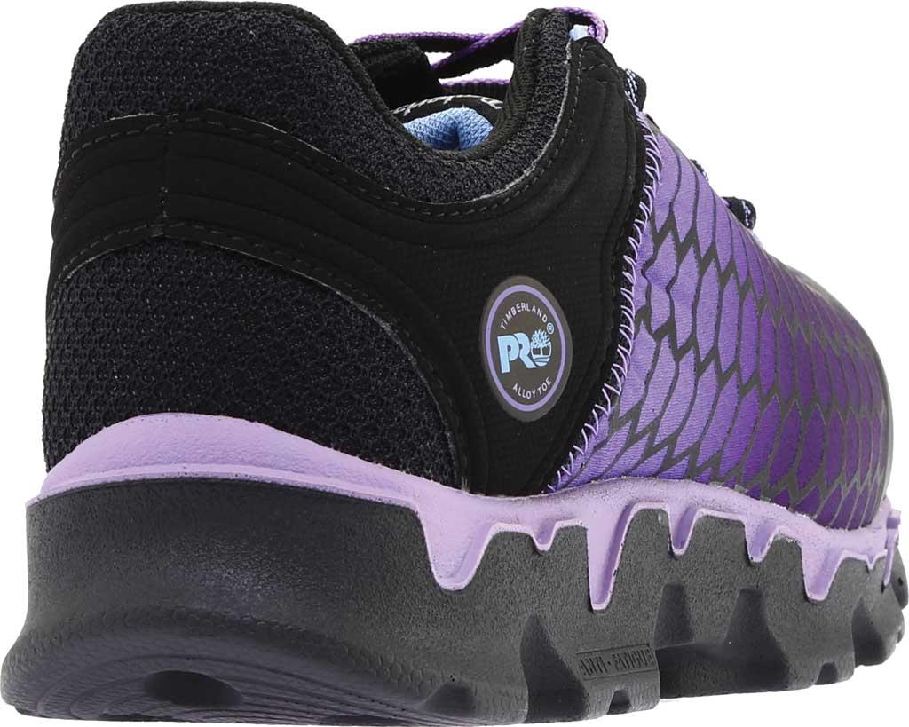 Women's Timberland PRO Powertrain Sport Alloy Toe SD Plus Work Shoe, Black Ripstop Nylon/Lavender, large, image 4