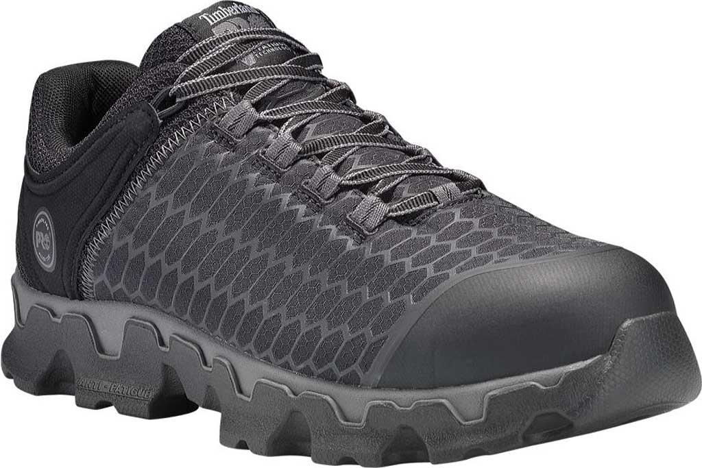 Men's Timberland PRO Powertrain Alloy Safety Toe EH Work Shoe, Black Ripstop Nylon, large, image 1