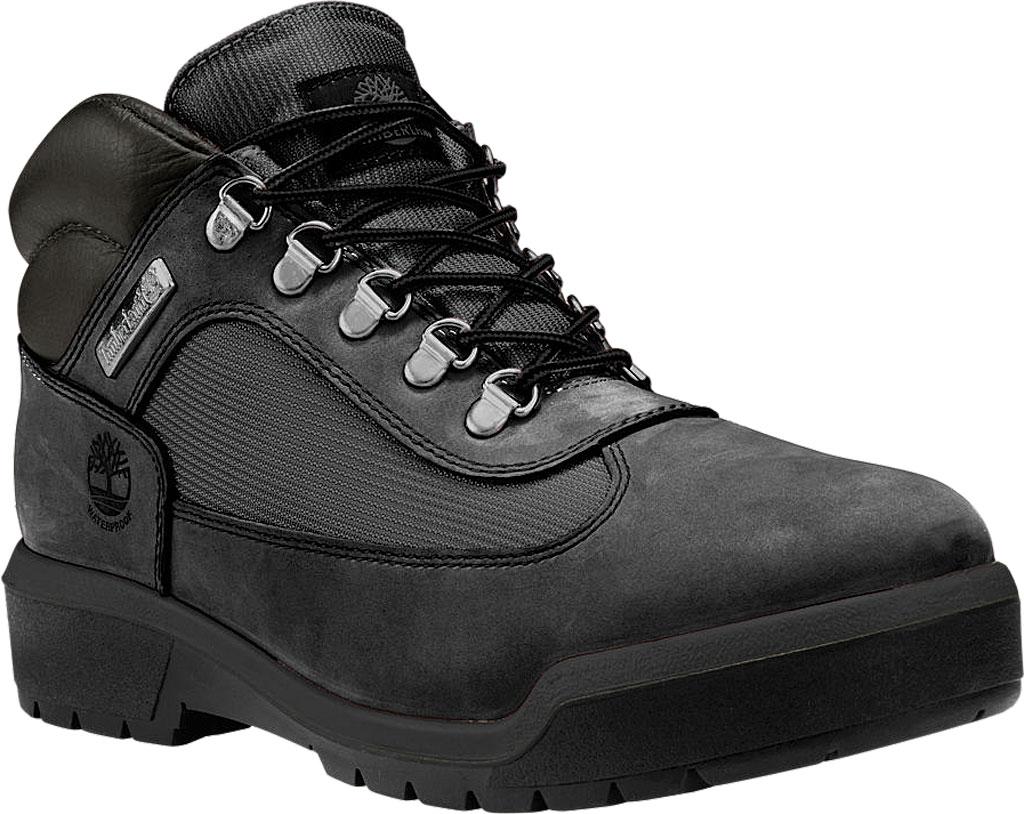 Men's Timberland Field Leather/Fabric Waterproof Boot, Black Waterbuck Nubuck, large, image 1